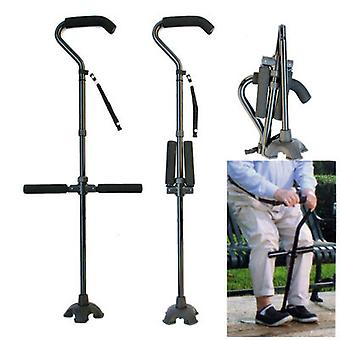 Multifunctional Aluminum Alloy Folding Telescopic Crutches For The Elderly