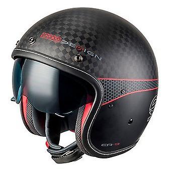 ヘルメット スパルコ カフェ レーサー カーボン TG ブラック (サイズ XL)