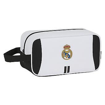 Travel Slipper Holder Real Madrid C.F. Biały czarny poliester