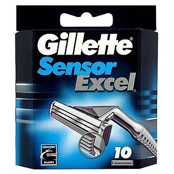 Gillette reservedeler for Excel Sensor 10 enheter