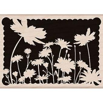Hero Arts Scallop Border Blossoms - Wood Mounted Stamps