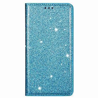 Ultradünnes glänzendes magnetisches Foliogehäuse Huawei P20 Lite - blau