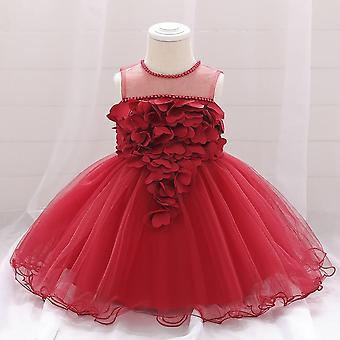 Summer Lace Heart White Dresses, Baby Princess Dress