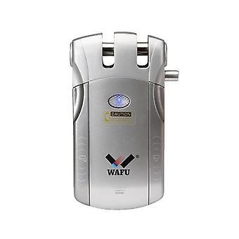 WAFU Langaton kaukosäädin Lukko Turvallisuus Näkymätön avaimeton Ovi sisääntulo Älykäs Lukko 2 kauko-näppäimellä Smart Home Villa Office Access Control Security System,Silver