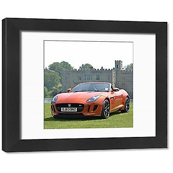 Jaguar F-Type V8S Convertible 2014 Orange. Framed Photo. Jaguar F-Type V8S Convertible 2014 Orange.