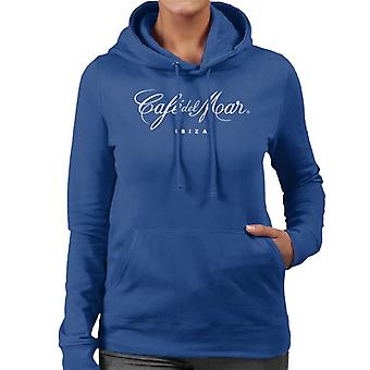 Cafe del Mar Classic White Logo Women's Hooded Sweatshirt