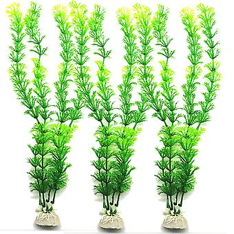 3 pcs Artificial underwater plants aquarium fish tank decoration green purple water grass viewing decorations