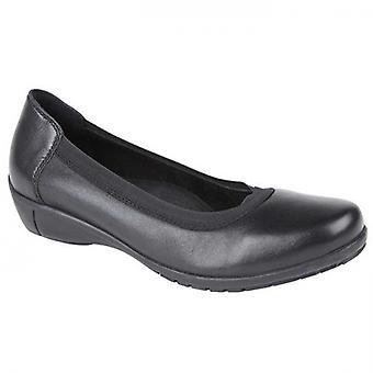 Mod Comfys Alice Ladies Leather Slip On Shoes Black