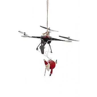 Santa on a Drone Christmas Decoration