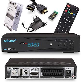 FengChun Ankaro 2100 DSR Sat-Receiver - HD Satelliten Receiver mit USB-Mediaplayer Funktion -