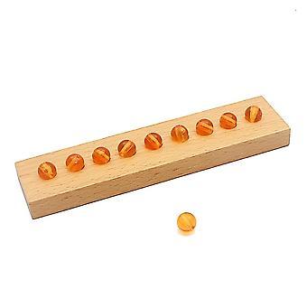 Montessori Materiais Matemática, Pérolas Plásticas Contas Coloridas De Escadas de Venda.