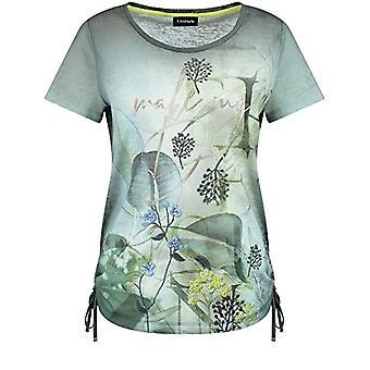 Taifun T-Shirt 1/2 Arm, Botanical Green Pattern, 40 Woman