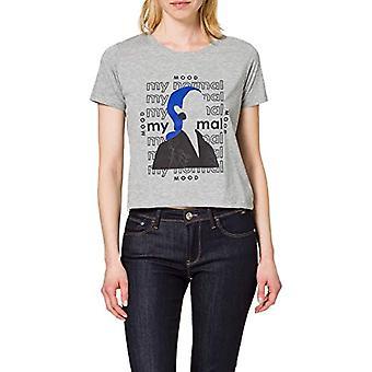 LTB Jeans Hirodo T-Shirt, Grey Mel 203, L Donna