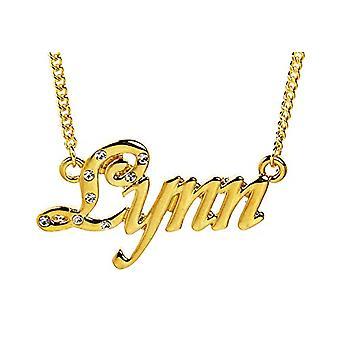 """L Lynn - 18-karat forgyldt halskæde, justerbar kæde af 16 """"- 19"""", i regal emballage"""