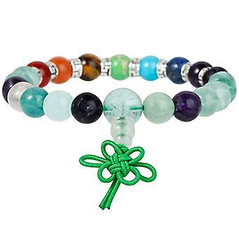 KYEYGWO 21 Mala Bracelet with Crystal Beads Chakra, unisex, Reiki Stretch and Alloy, color: fluorite (7 chakra stones with Ref. 0715444069246