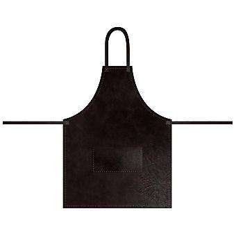 Förkläde Mörkbrun Läderlook