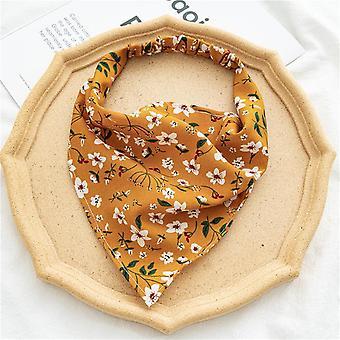 Female hood floral elastic band headcloth hair rope