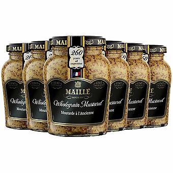 6 Pack Maille Muștar Jar, Cereale integrale, 210g