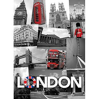 Pyramid International London Collage A6 Postcard