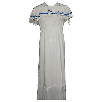 فينس كاموتو فستان تكدرت خارج الكتف ماكسي الأبيض