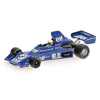 Tyrrell Ford 007 (Jody Scheckter - 1975) helstøpt modell bil
