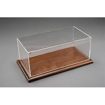 Luxury Dark Wood Finish Base Display Case