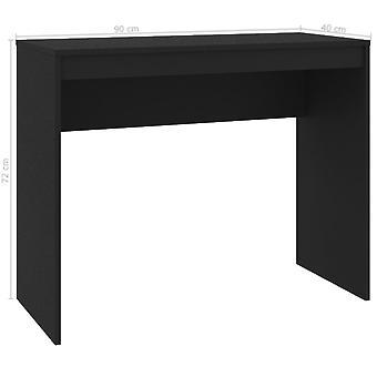vidaXL Työpöytä Musta 90×40×72 cm Lastulevy
