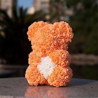 Teddybär Rose Blume künstliche Dekoration Puzzle kreative Magie