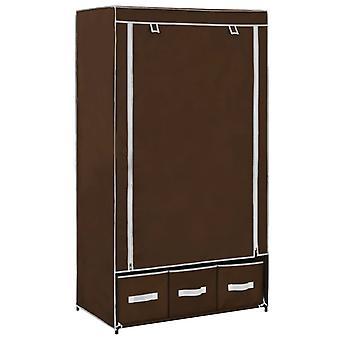 Wardrobe 87X49X159 Cm Fabric Brown