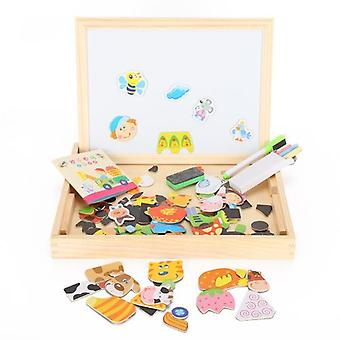 Drawing Writing Board Double-sided Magnetic Puzzle