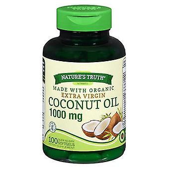 Nature's Truth Nature'S Truth Vitamins Coconut Oil Quick Release Softgels, 1000 MG, 100 Caps