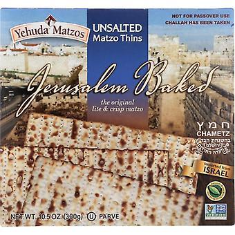Yehuda Matzo Thin Daily Unsalted, Case of 12 X 10.5 Oz