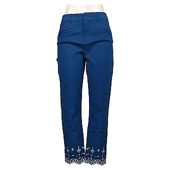 Colleen Lopez Dames Broek Stretch Skinny Capri Blauw 648170
