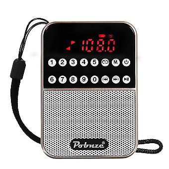 LCD Digital FM Pocket Radio Speaker USB TF Card MP3 Music Player