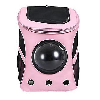 Outdoor tragbare große Haustier Platz Rucksack, doppelte Schulter Haustier atmungsaktive Tasche (Pink)