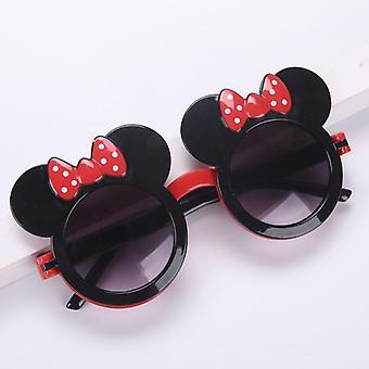 Cartoon Sunglasses Flip Cute Red Bow Travel Sun Visor Glasses Frames