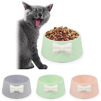 Bow rhombus cat bowl