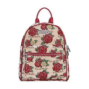 فريدا كاهلو ارتفع daypack | | حقيبة ظهر صغيرة الأزهار دافك-سكروز