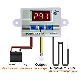 Xh-w3002 digitálny regulátor teploty termostat w3002 110v 220v 12v 24v termoregulátor akvarijný inkubátor regulátor teploty