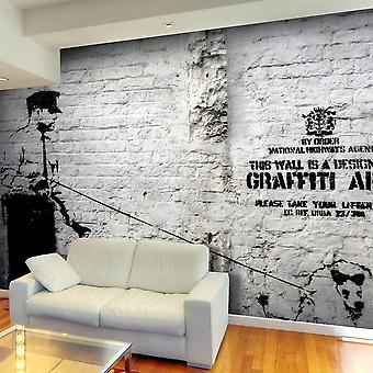 Graffiti street art tapeter - Banksy - Graffiti Område