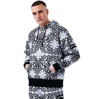 Hype Herren Mono Fliese Oversized Pullover Hoodie