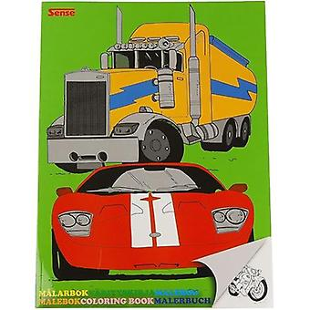 Målarbok med fordon bil lastbil motorcykel flygplan