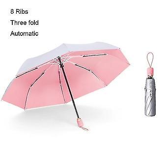 Aurinkovarjot sade sateenvarjot mini sateenvarjo anti uv aurinko sade tuulenpitävä valo taittuvat sateenvarjot miehet sm146073