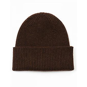 Colorful Standard Merino Wool Beanie Hat - Coffee Brown