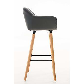 Barhocker - Barhocker - Barstuhl - Modernes graues Holz 55 cm x 46 cm x 99 cm
