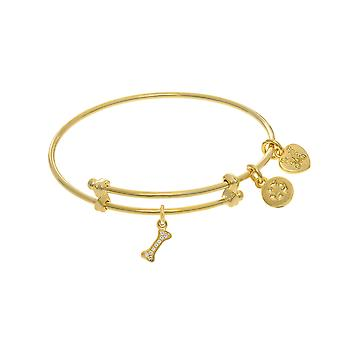Dog Bone Charm Adjustable Bangle Girls Bracelet