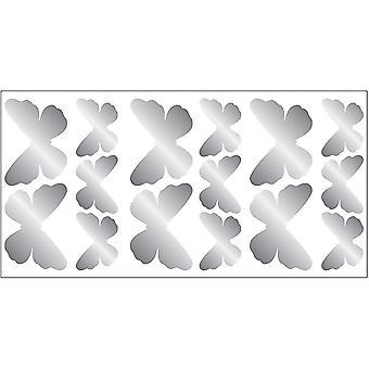 Home decor decals silver butterflies wall stickers