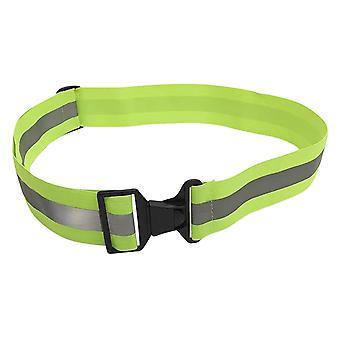 Bezpieczeństwa odblaskowe pasek elastyczny regulowany wysokiej widoczności Sprzęt bezpieczeństwa do jazdy pieszo i na rowerze (fluorescencyjny zielony)