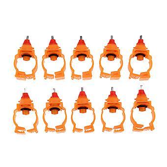 Poulet Lapin Feeder Automatique Volaille Tétines d'eau de source pour poulet Canard Hen Drinker Farm Animal Water Feeder, 10pcs / lot