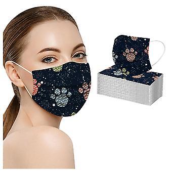 Vuxen mask engångs ansiktsmask industriella 3-lagers ansiktsmasker
